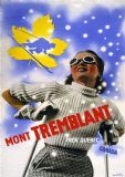 Mont Tremblant, Quebec/Canada Vintage Skiing Travel Print/Poster. Sizes: A4/A3/A2/A1 (002694)